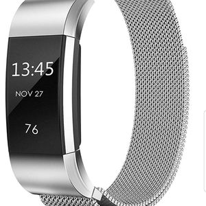 Jewelry - Fit bit charge 2 replacement band silver